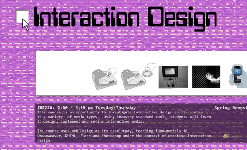 Interaction Design Flyer